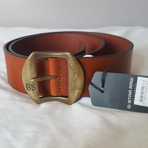 G-Star Accessories - G-star raw brown leather belt - size 95